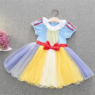 カラフルなチュールスカートが可愛い♡新 白雪姫ワンピース♪コスプレ コスチューム