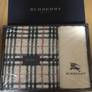 バーバリー(BURBERRY)の2出品分❗️BURBERRY バスタオルとフェイスタオル セット(タオル/バス用品)