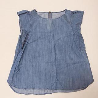 ジーユー(GU)のGU♡テンセルフリルブラウス(シャツ/ブラウス(半袖/袖なし))