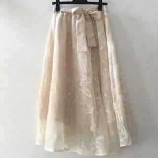 クチュールブローチ(Couture Brooch)のクチュールブローチ スカート レース花柄 テチチ ロペピクニック ZARA 好も(ひざ丈スカート)