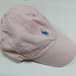 ポロラルフローレン(POLO RALPH LAUREN)のPOLO BY RALPH LAUREN ロゴ 刺繍 ローキャップ ピンク 帽子(キャップ)