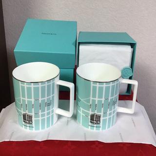 Tiffany & Co. - 新品未使用  ティファニー ニューヨーク マンハッタン 地図 マグカップ 2客