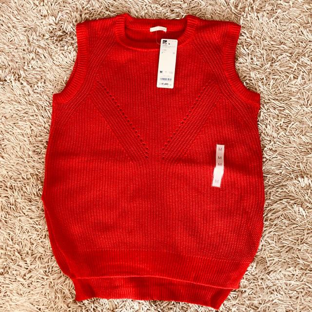GU(ジーユー)の★新品★GUノースリーブセーター2色セット レディースのトップス(ニット/セーター)の商品写真