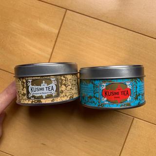 ディーンアンドデルーカ(DEAN & DELUCA)のKUSMI TEA 空き缶 キャニスター 2個 セット(容器)