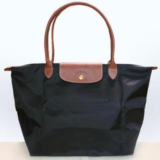 ロンシャン(LONGCHAMP)のロンシャン   トートバッグ Lサイズ ブラック美品(トートバッグ)