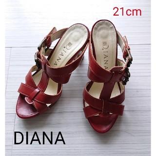 DIANA - No.3011DIANA★21cmおしゃれなクラシックな赤サンダル/ウッドヒール