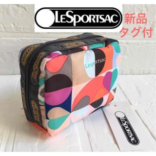 LeSportsac - LeSportsac レスポートサック  スクエア コスメポーチ 送料無料
