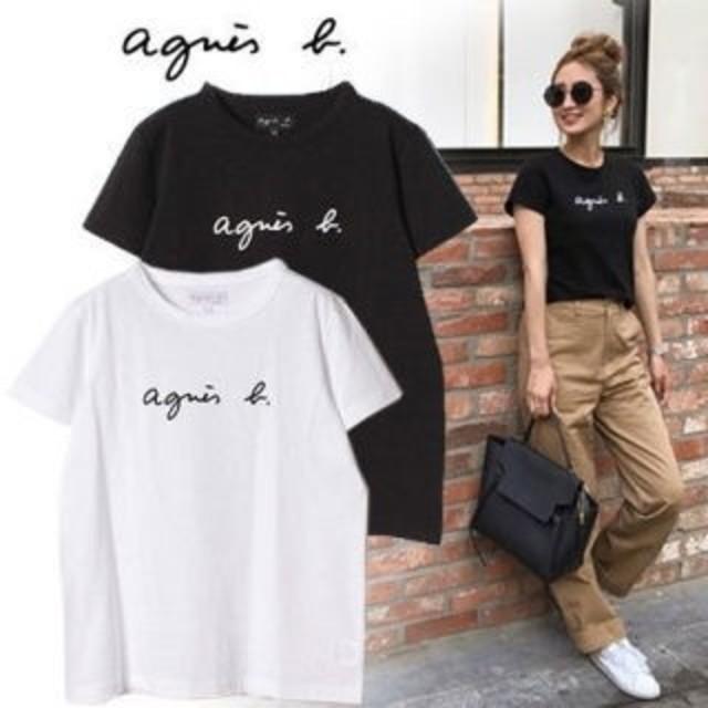 agnes b.(アニエスベー)のアニエスベー Agnes b Tシャツ レディース Mサイズ ブラック レディースのトップス(Tシャツ(半袖/袖なし))の商品写真