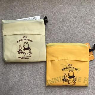 クマノプーサン(くまのプーさん)の新品タグ付 ダイソー ディズニー エコバッグ くまのプーさん  2個(エコバッグ)