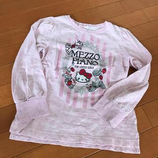 mezzo piano - 【130】Mezzo Piano ガールズ カットソー ハローキティ×イチゴ