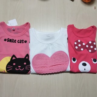 西松屋 - Tシャツ 3枚セット 90 95 女の子