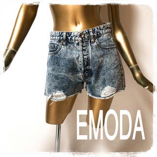 EMODA - EMODA ♥ クラッシュ ケミカル デニム ショーパン