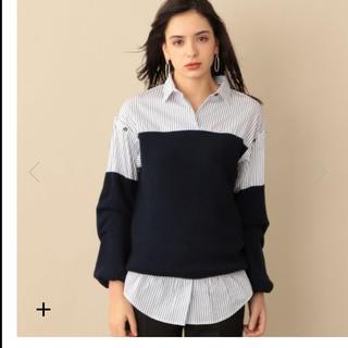 トゥモローランド(TOMORROWLAND)のCAST ニットコンビシャツ ブラウス 今期 新品未使用(シャツ/ブラウス(長袖/七分))