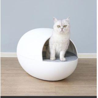 全自動猫トイレ 猫トイレ自動 自動猫トイレ ホワイト 白 猫用品 ペット