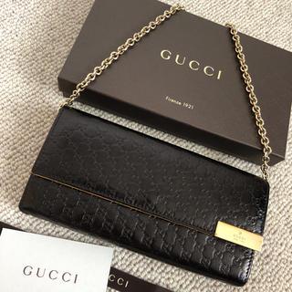 Gucci - 美品 グッチ 長財布 二つ折り マイクロGG チェーンウォレット