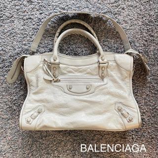 バレンシアガ(Balenciaga)のBALENCIAGA バレンシアガ バッグ シティ グレー ブルー 限定品(ハンドバッグ)
