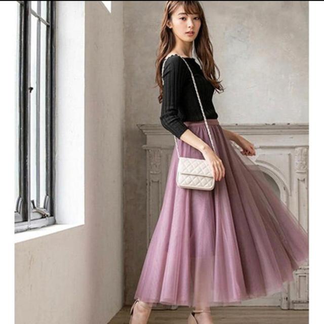 fifth(フィフス)のfifth チュール ロング スカート レディースのスカート(ロングスカート)の商品写真