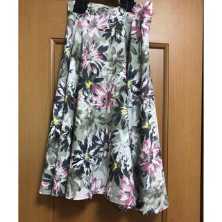 アールディールージュディアマン(RD Rouge Diamant)のRD 花柄スカート(ひざ丈スカート)