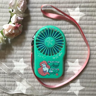 ディズニー(Disney)の美品 アリエルのハンディーファン(扇風機)