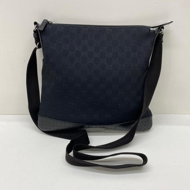 Gucci(グッチ)のグッチ GG柄 ショルダーバッグ キャンバス×レザー  メンズ レディース メンズのバッグ(ショルダーバッグ)の商品写真
