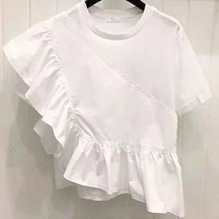 ZARA - 即納♪アンバランス フリル Tシャツ カットソー