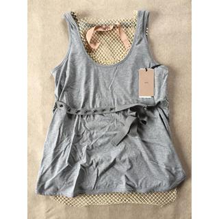 マルタンマルジェラ(Maison Martin Margiela)の新品 N°21 ヌメロ ヴェントゥーノ レディース タンクトップ Tシャツ ジレ(Tシャツ(半袖/袖なし))