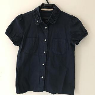 SHIPS - シップス 紺色 シャツ