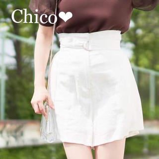 who's who Chico - 新品タグ付き💕ベルト付きリネンキュロット