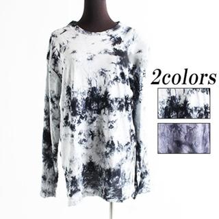 ファンキーフルーツ(FUNKY FRUIT)のタイダイ柄Tシャツ ホワイト×黒 F(Tシャツ(長袖/七分))