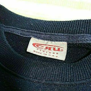 CRU - 【90s used】 CRU ロゴ刺繍 スウェットシャツ USA製