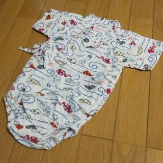 ピーナッツ(PEANUTS)の80PEANUTSスヌーピー甚平作務衣浴衣風ロンパース(ロンパース)