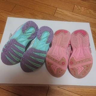【使用感あり!】17.0女の子スニーカー(瞬足とプリンセス) 2足セット