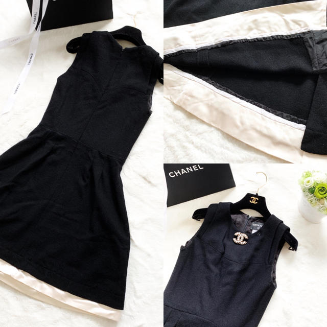CHANEL(シャネル)の美品 シャネル リトルブラック  シルク ワンピース フォーマル  レディースのワンピース(ひざ丈ワンピース)の商品写真
