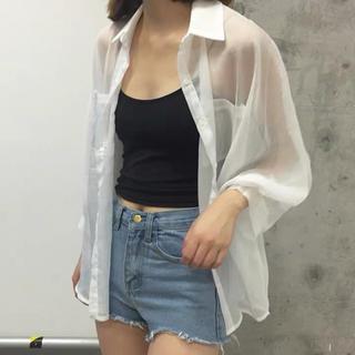 WEGO - シアーシャツ ブラウス 羽織