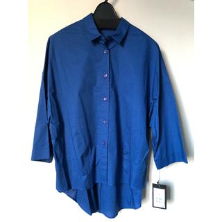 SCOT CLUB - SCOT CLUB 後ろプリーツ ブルーシャツ 定価11,900