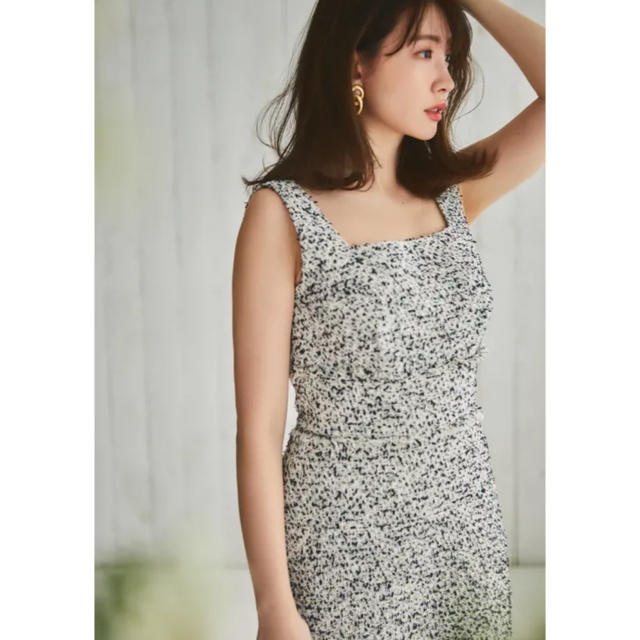 snidel(スナイデル)のCotton blend tweed dress S her lip to レディースのワンピース(ロングワンピース/マキシワンピース)の商品写真