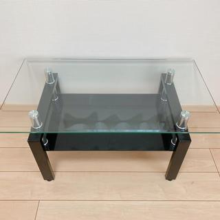 ガラステーブル センターテーブル(ローテーブル)