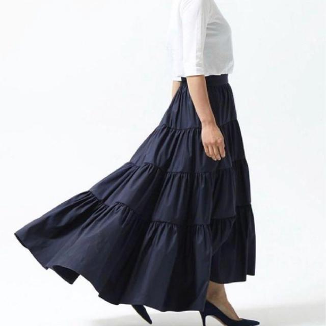 Drawer(ドゥロワー)のシートーキョー  ネイビー 専用 レディースのスカート(ロングスカート)の商品写真