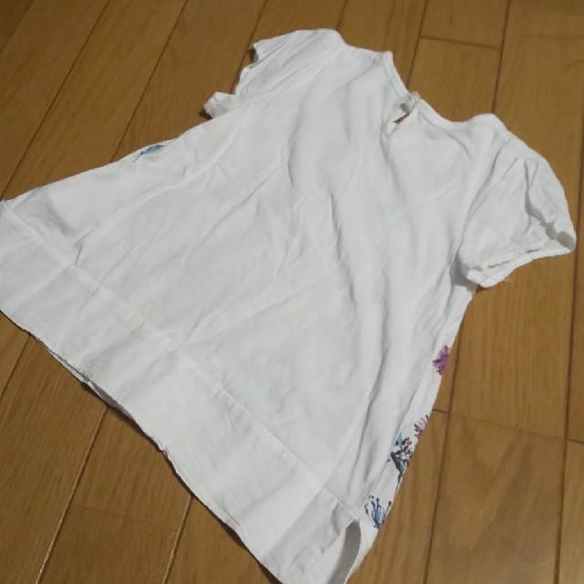hakka kids(ハッカキッズ)の100hakkakidsハッカキッズ花柄Tシャツ キッズ/ベビー/マタニティのキッズ服女の子用(90cm~)(Tシャツ/カットソー)の商品写真