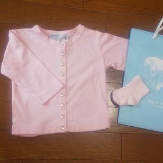 agnes b. - アニエスベー カーディガン・靴下セット 80cm ピンク