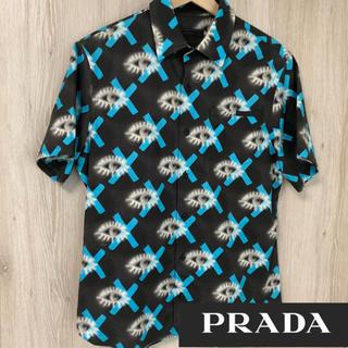 PRADA - PRADA プラダ eyeprint  アイプリント 総柄 シャツ サイズ39