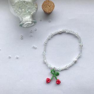 オオトロ(OHOTORO)のcherry beads bracelet ❤︎(ブレスレット/バングル)