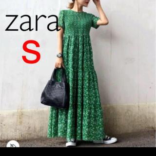 ZARA - ✰︎ザラ フラワー柄 スモッキング ワンピース S✰︎