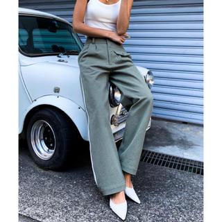 ALEXIA STAM - ACLENT   Side line slacks pants【KHAKI】