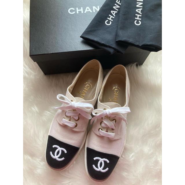 CHANEL(シャネル)のシャネル❤️ヴィンテージ  デッキシューズ レディースの靴/シューズ(スニーカー)の商品写真