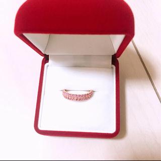 ポンテヴェキオ(PonteVecchio)のピンクサファイア パフェリング(リング(指輪))