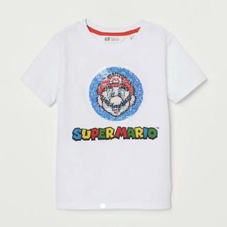 エイチアンドエム(H&M)のH&M   スーパーマリオ リバーシブルスパンコールTシャツ  135/140㎝(Tシャツ/カットソー)