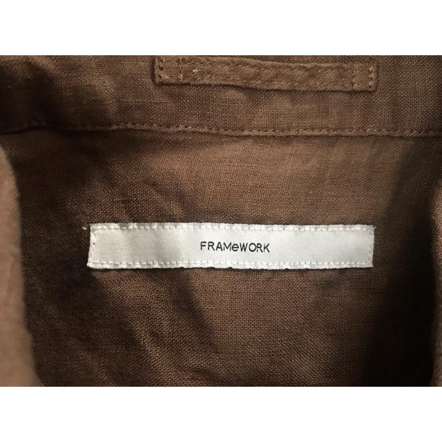 FRAMeWORK(フレームワーク)のFRAMeWORK FRENCH LINEN 2WAY シャツ◆ レディースのトップス(シャツ/ブラウス(長袖/七分))の商品写真