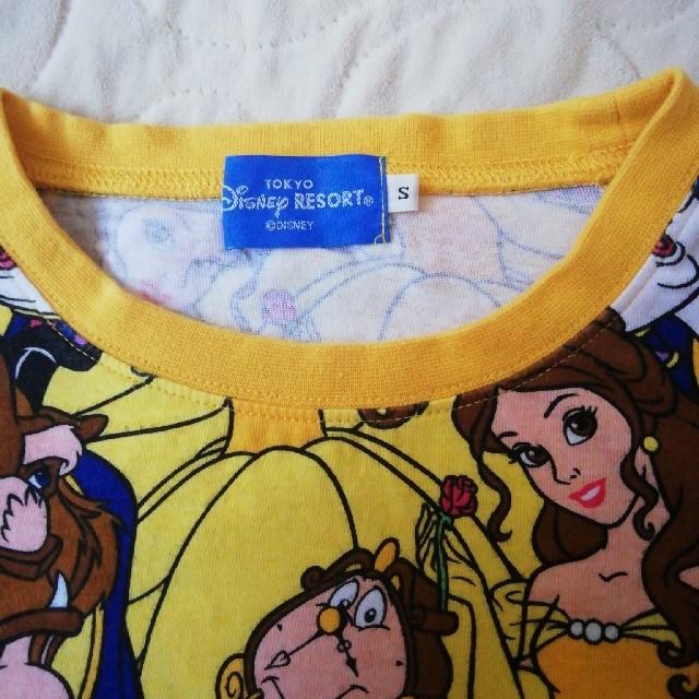 Disney(ディズニー)のディズニーリゾート 美女と野獣 ベル総柄TシャツSサイズ レディースのトップス(Tシャツ(半袖/袖なし))の商品写真