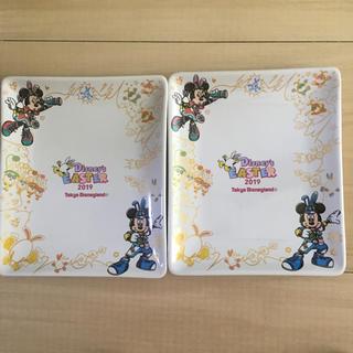 ディズニー(Disney)の『未使用』ディズニー限定☆2019 イースター☆スーベニア お皿2枚(キャラクターグッズ)